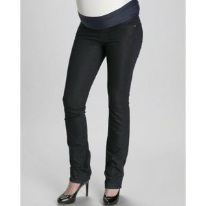 Paige Maternity Willow Winter Straight Jeans